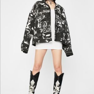 Black punk photograph jacket